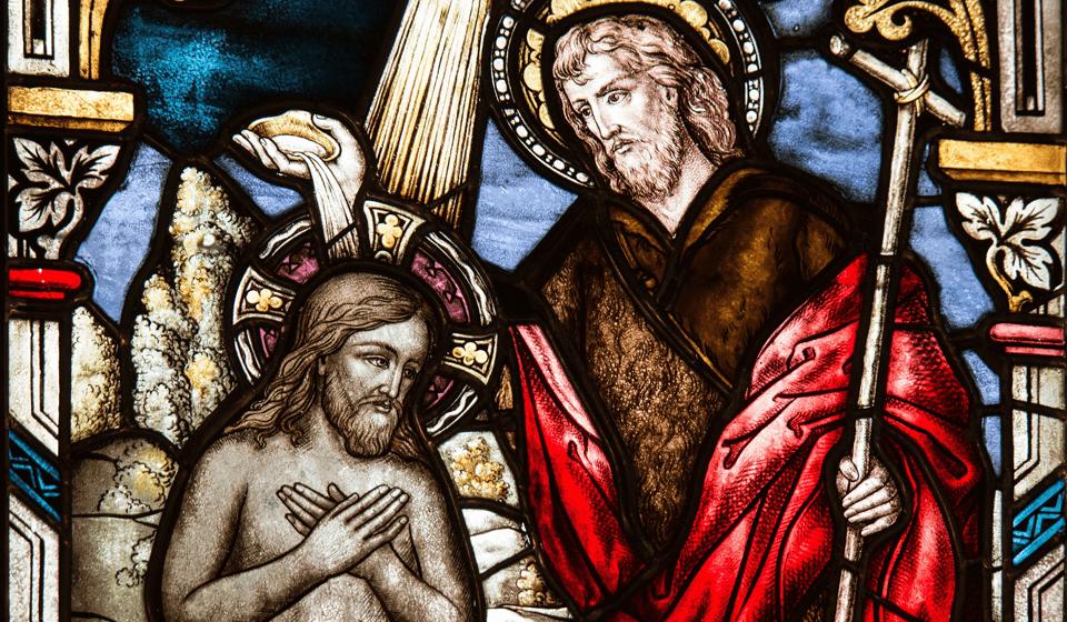 キリストのステンドグラス画